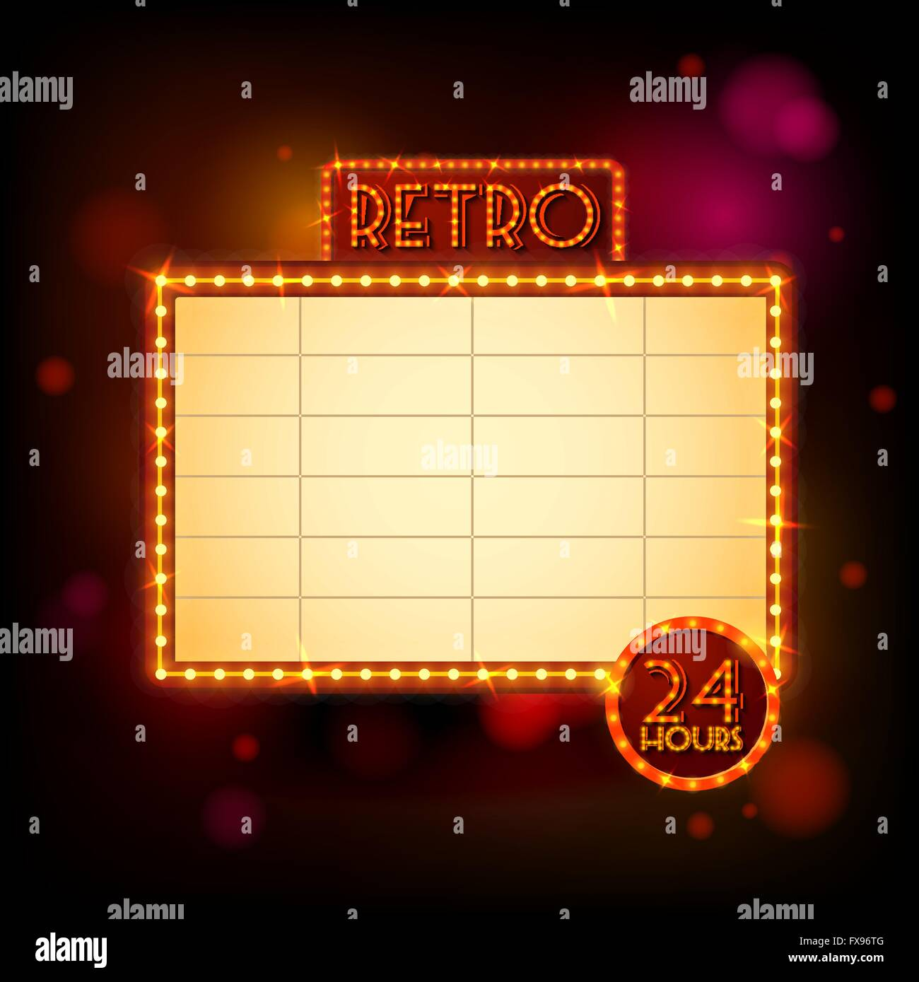 Retro billboard poster - Stock Vector