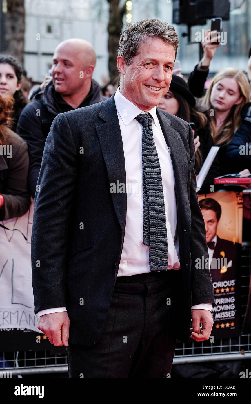 The European premiere of FLORENCE FOSTER JENKINS on 12/04/2016 at ODEON Leicester Square, London. Pictured:  Hugh - Stock Image
