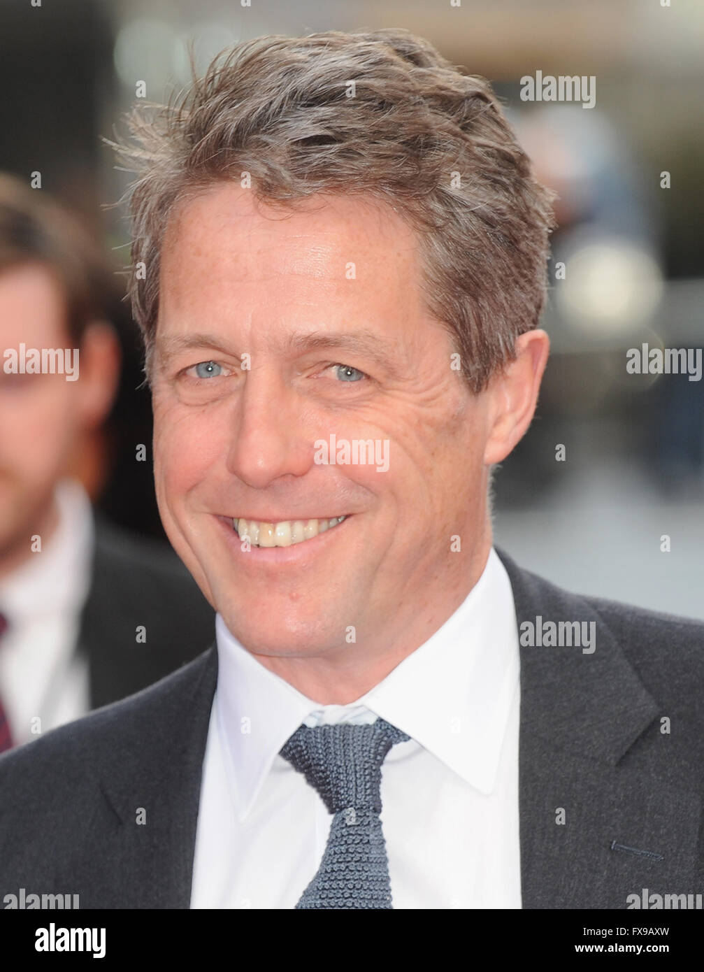 London, UK. 12th April, 2016. Hugh Grant attends the European Premiere of 'Florence Foster Jenkins' at Odeon - Stock Image