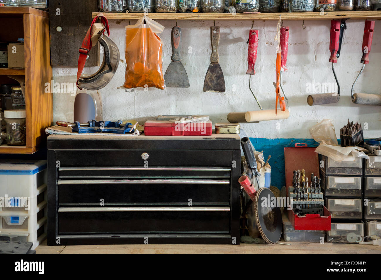 Carpenters workbench - Stock Image