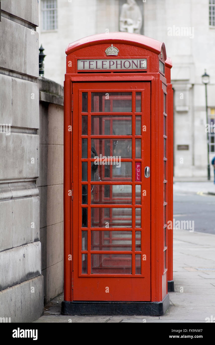 Red London Telephone Box Stock Photo