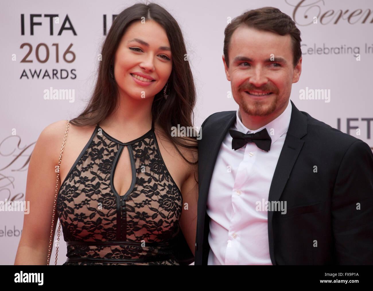 Nadia Milliken and Martin McCann at the IFTA Film & Drama Awards (The Irish Film & Television Academy) Dublin - Stock Image