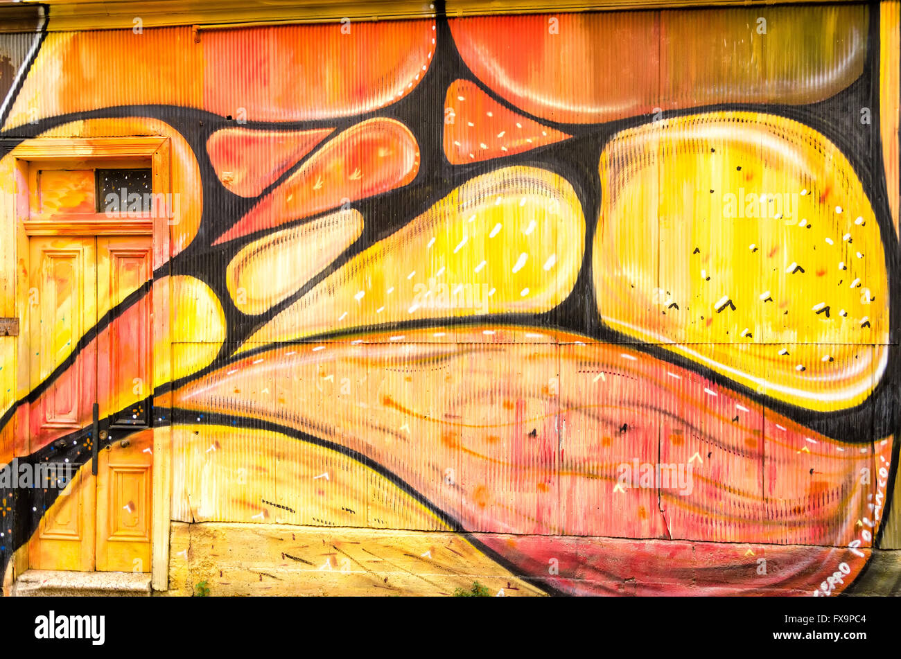 Colorful Mural Painting On South Stock Photos & Colorful Mural ...