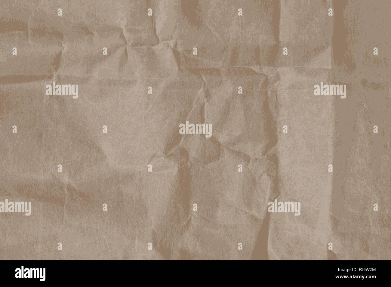 Wrinkled paper texture - Stock Image