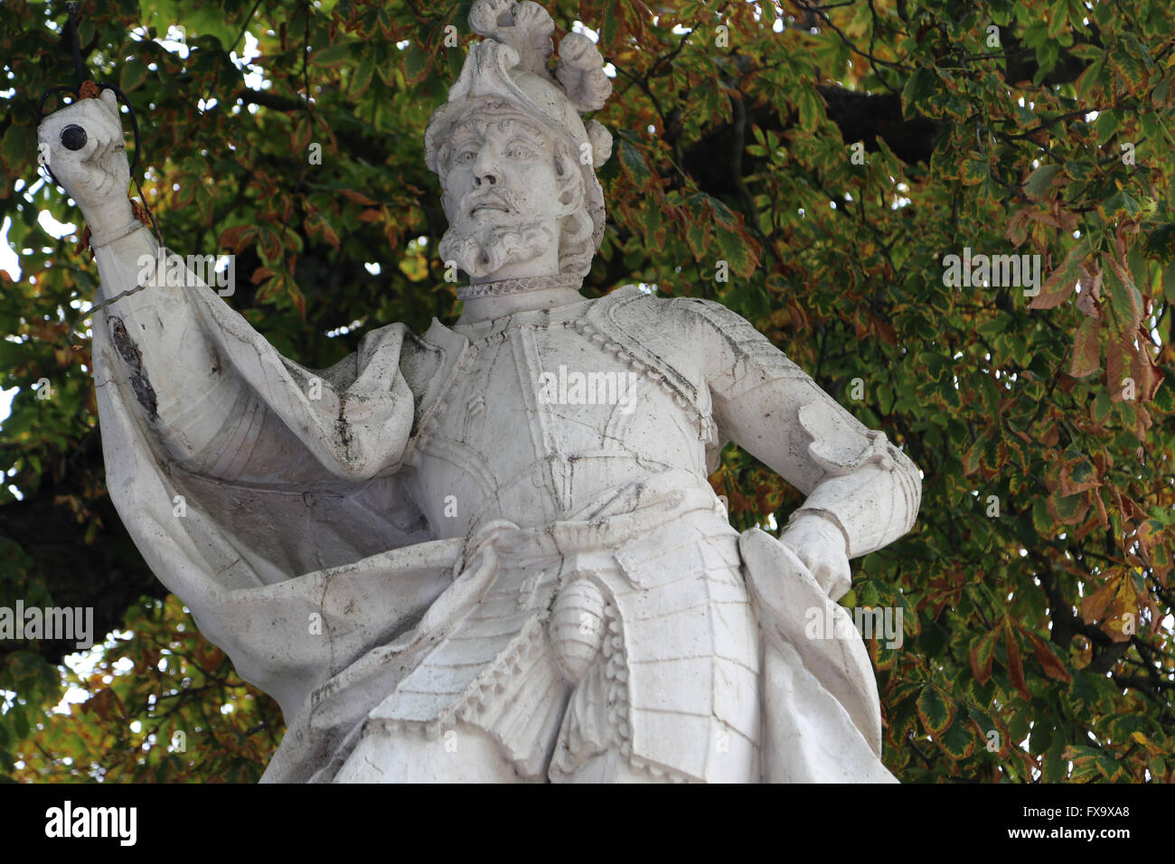 Fernan Gonzalez (died 970). First autonomous count of Castile. Statue. Burgos. Spain. - Stock Image