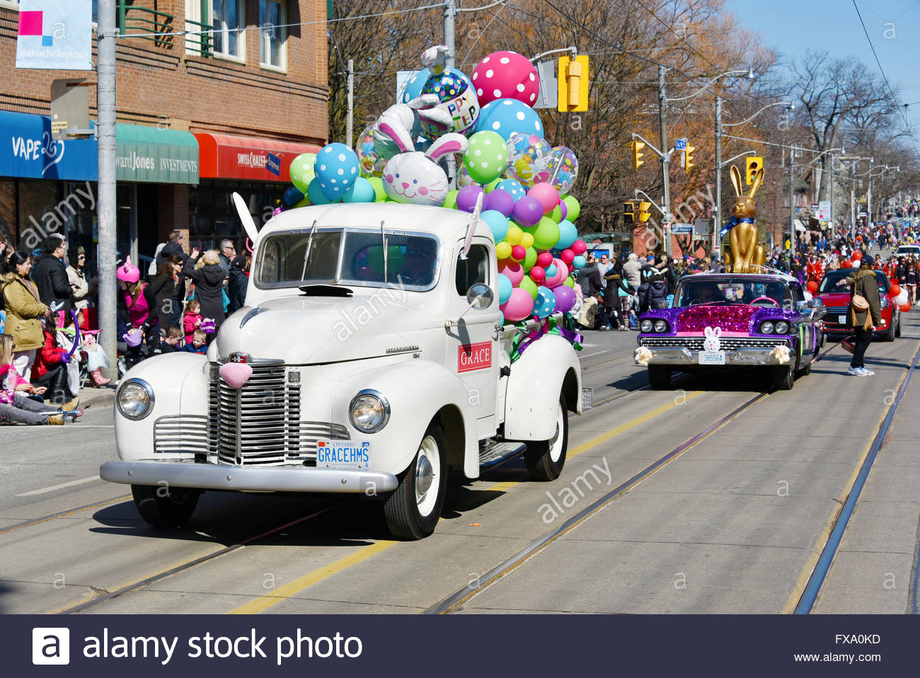 Toronto 2016 Beaches Lions Club Easter Parade: Vintage cars. The ...