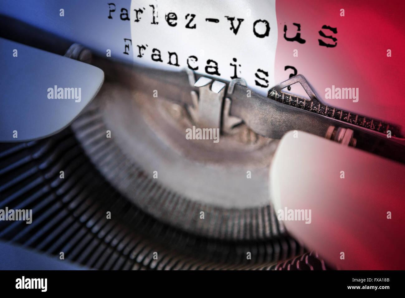 Composite image of parlez vous francais Stock Photo
