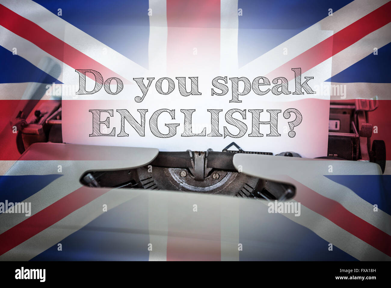 Composite image of do you speak english Stock Photo