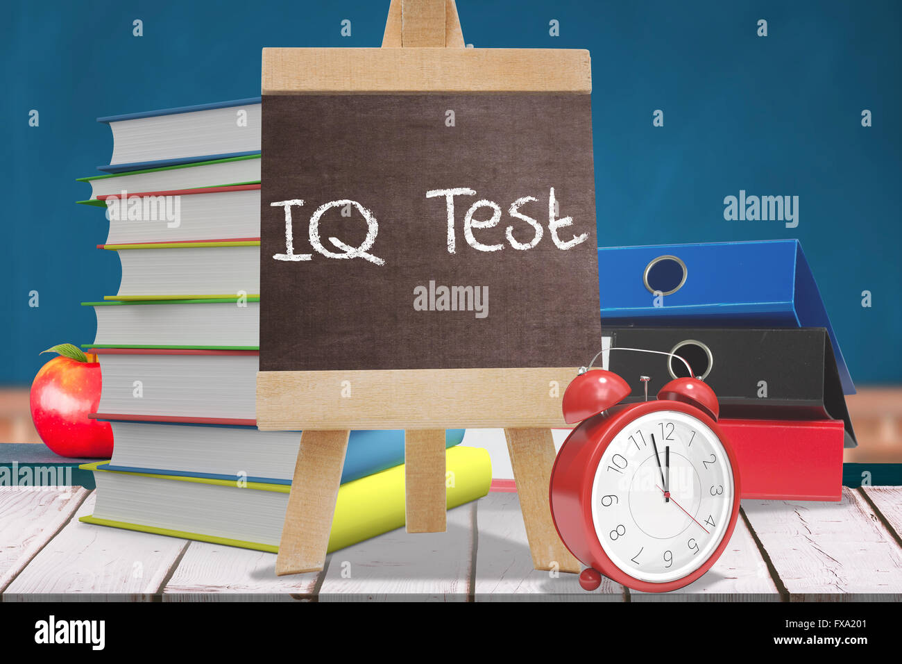 Composite image of word iq test - Stock Image