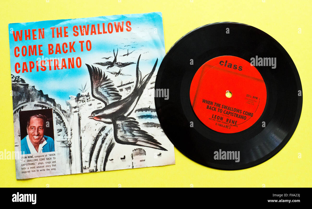 A vintage 33-1/3 RPM vinyl record and its album cover with