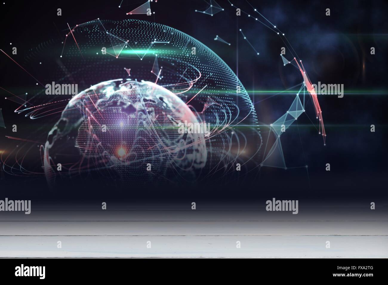 Outer space in room - Stock Image