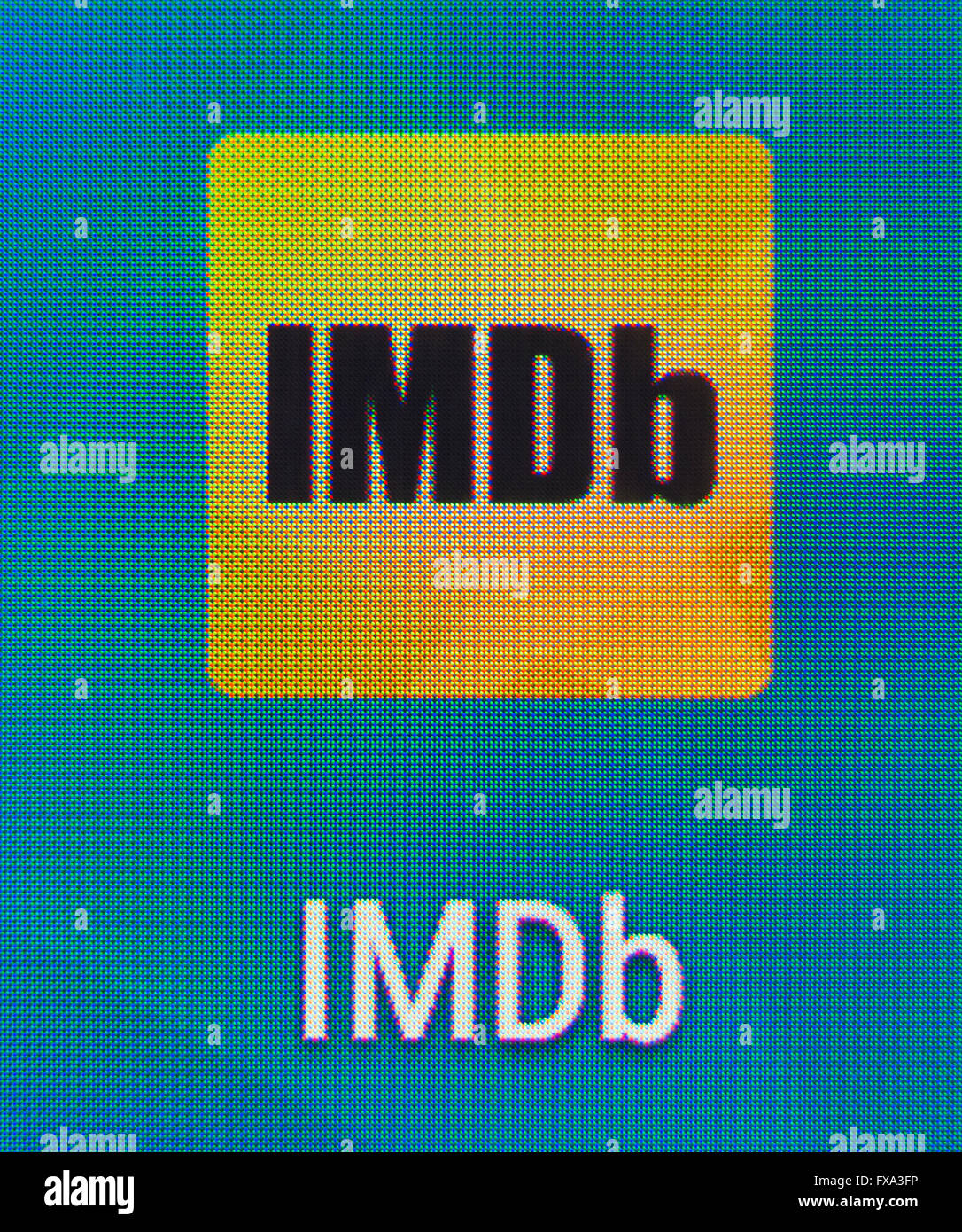Close up of the IMDb app icon on an Android phone  (Internet Movie