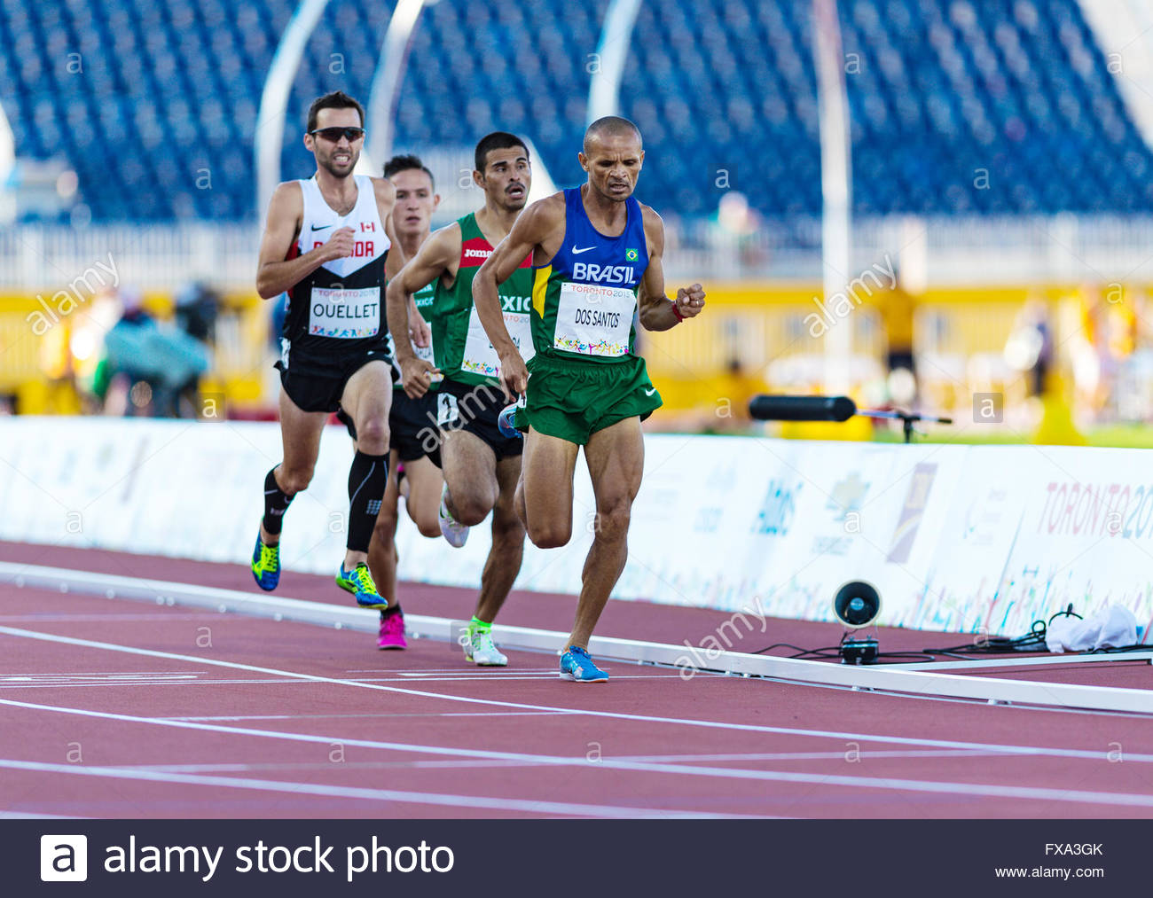 Guillaume Ouellet, Team Canada paralympic athlete gold winning moments.Athletics competition and medals ceremonies - Stock Image