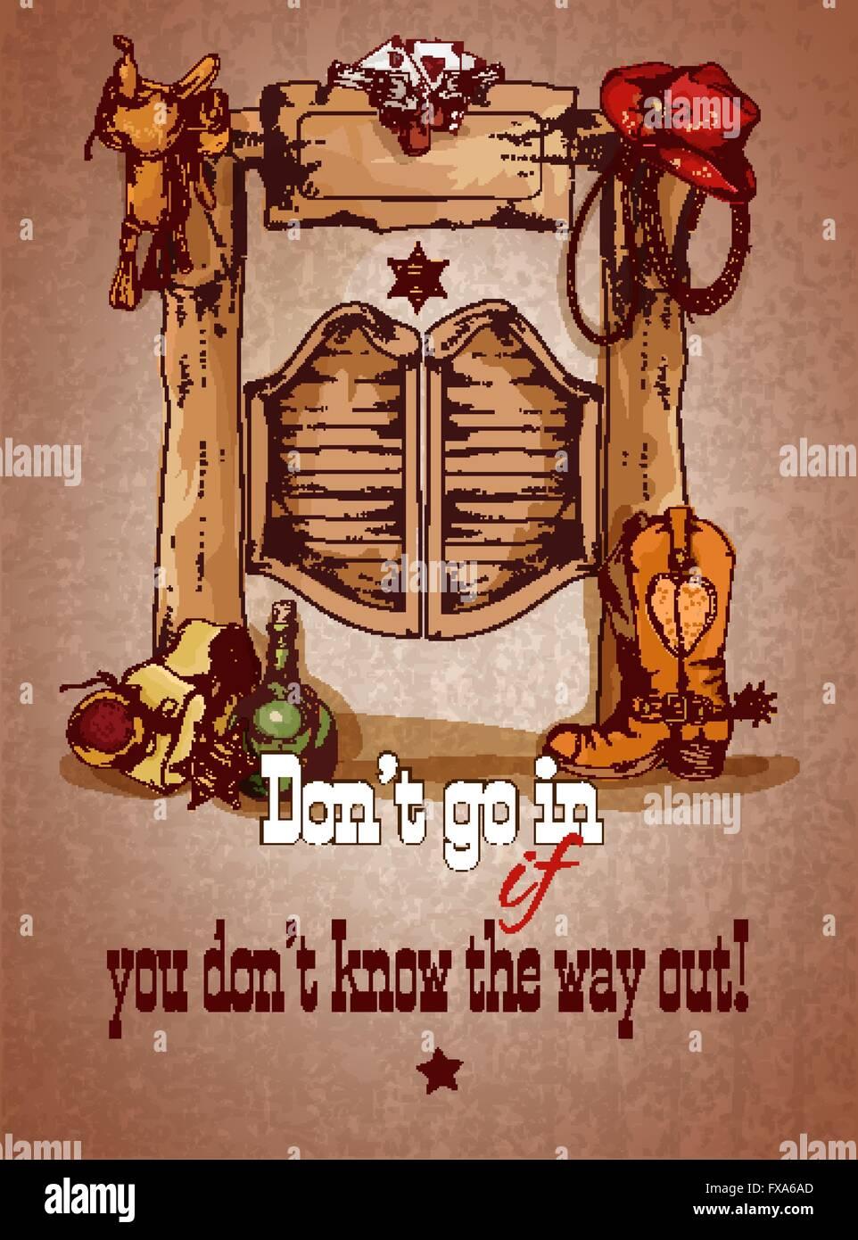 Illustration De Dessin Animé Enfant Cowboy Du Far West