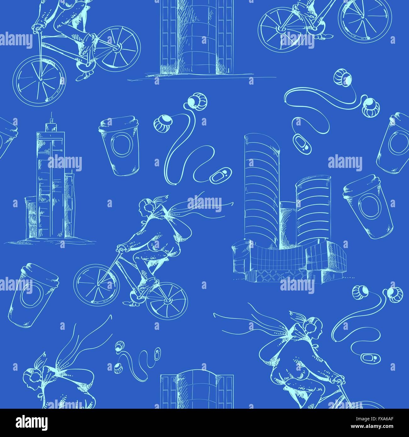 Blueprint city seamless pattern stock vector art illustration blueprint city seamless pattern malvernweather Images