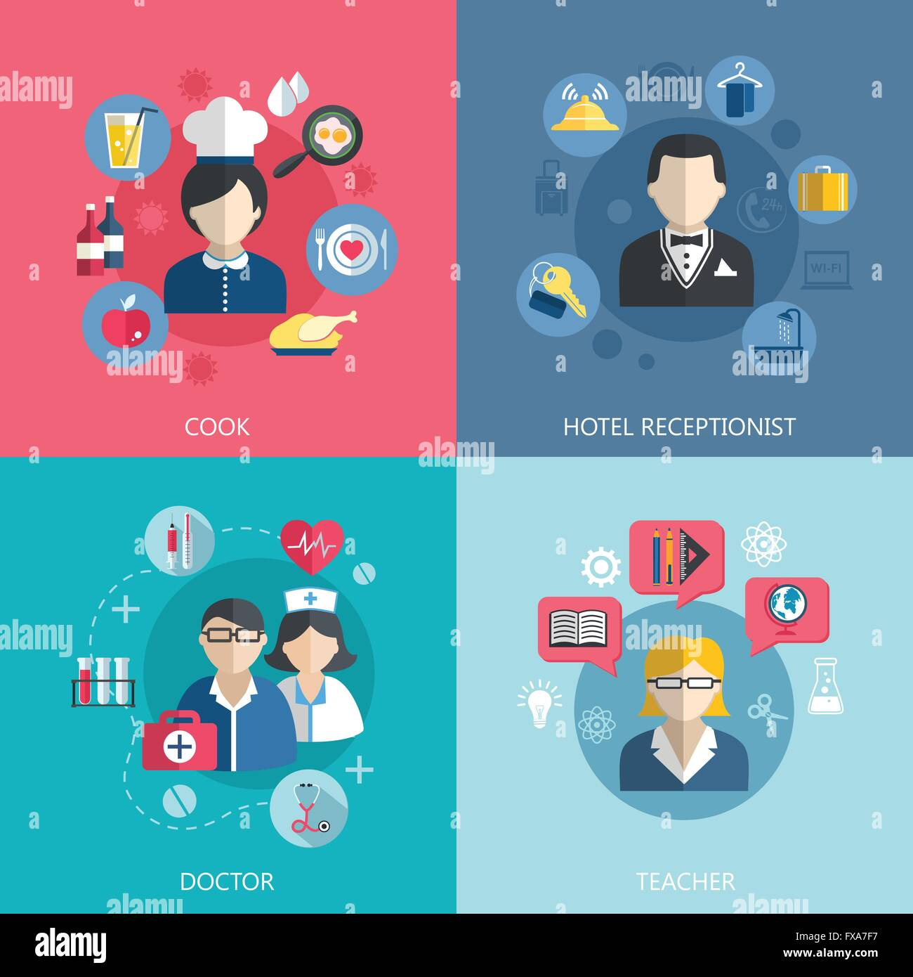 People professions concept - Stock Vector