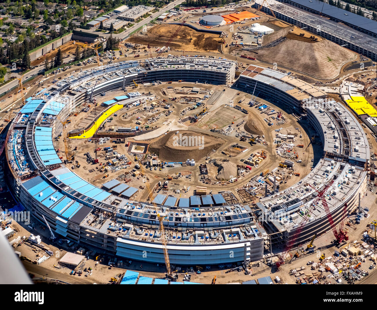 cupertino apple office. Huge Construction Site, Office Building Apple Campus II Or 2 AC2, Cupertino