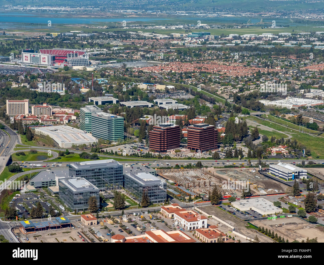 Headquarters of Vishay Americas inc. Broadcom ca technologies, Sophos, Silicon Valley, California, USA - Stock Image