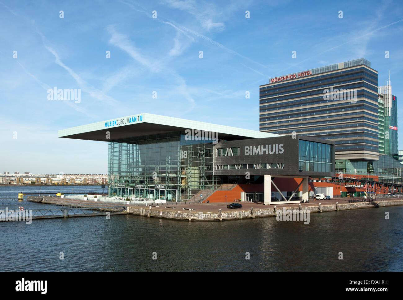 Muziekgebouw aan 't IJ concert hall and Bimhuis, Amsterdam, Holland, The Netherlands - Stock Image