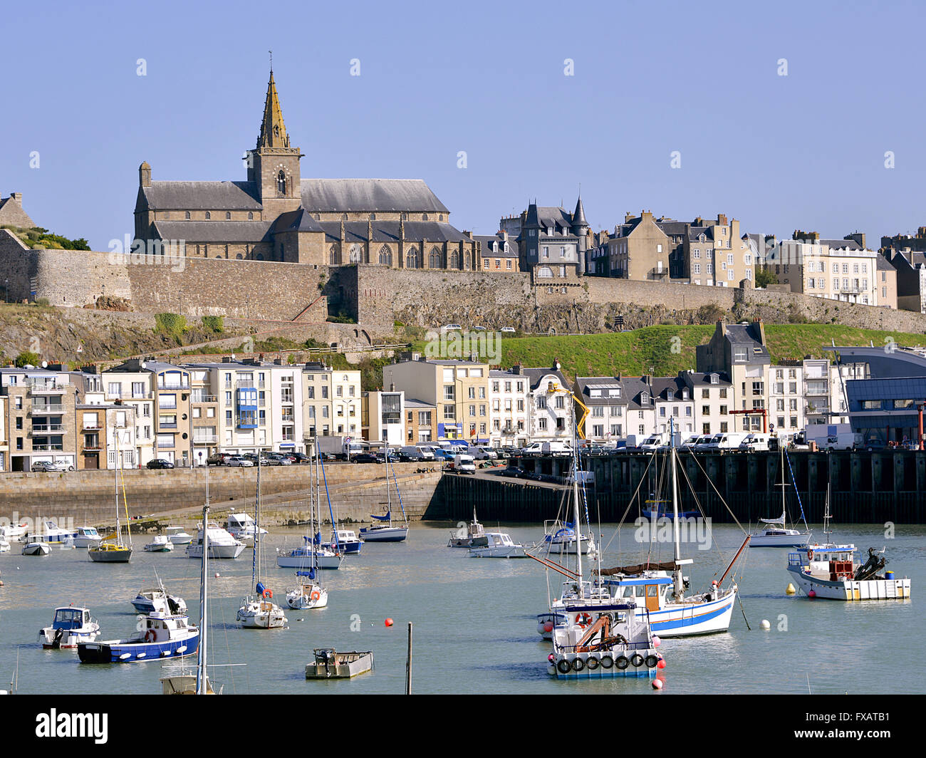 Port of Granville in France Stock Photo: 102271541 - Alamy