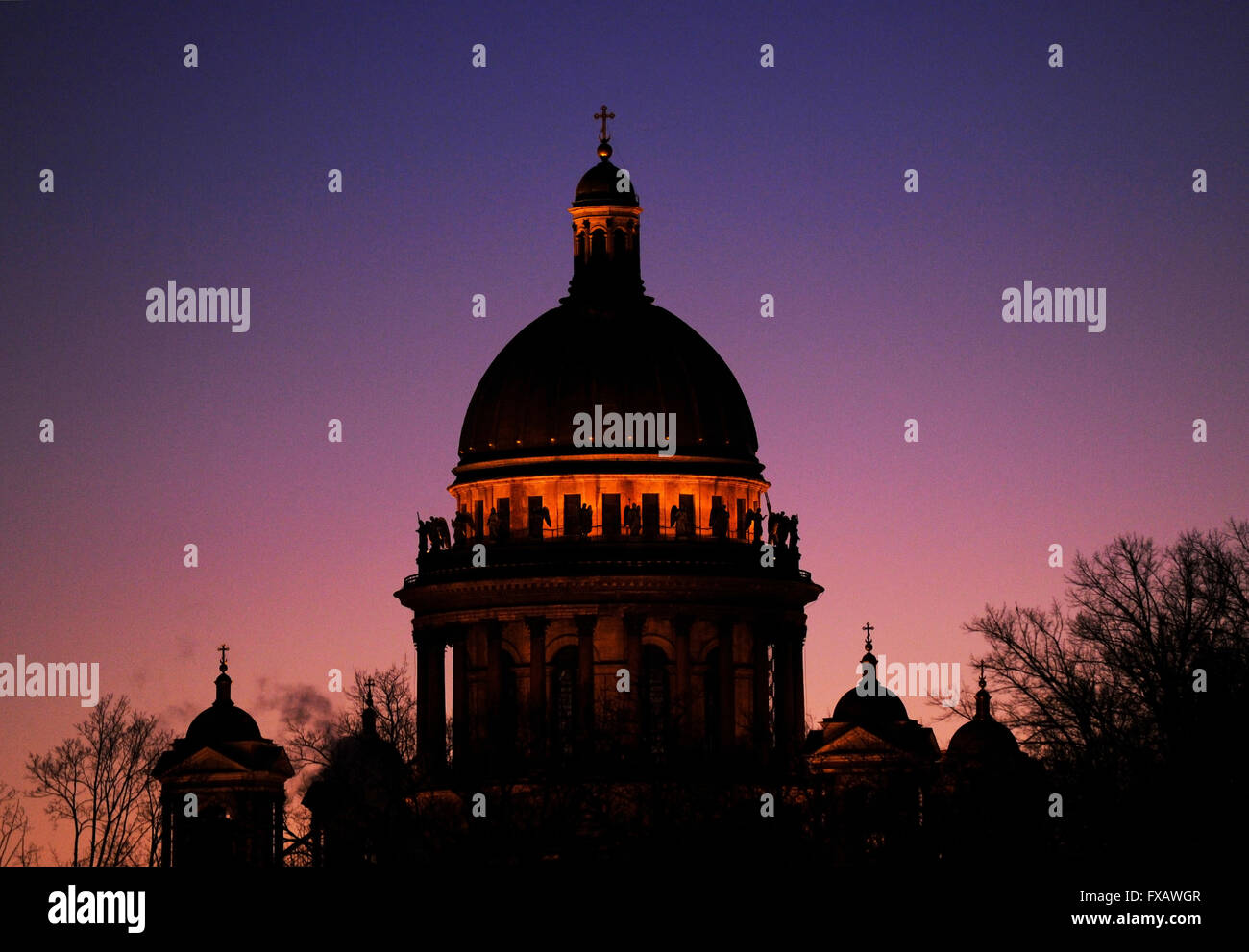 Russia. Saint Petersburg. Saint Isaac's Cathedral. Russian Orthodox. Architec Auguste de Montferrand. Neoclassical - Stock Image