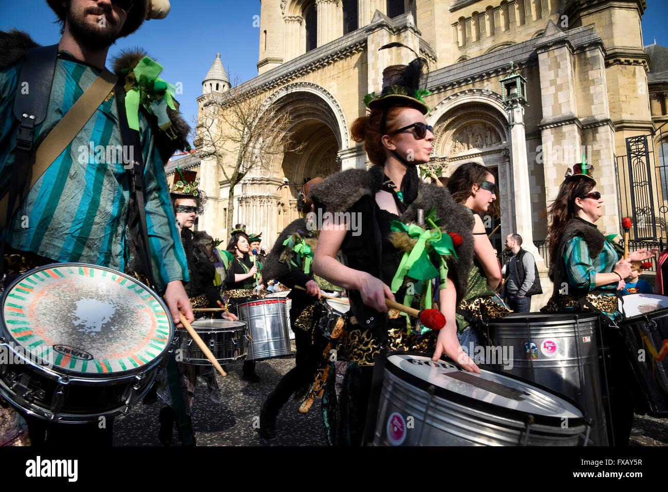 St. Patrick's Day Parade Belfast Northern Ireland - Stock Image
