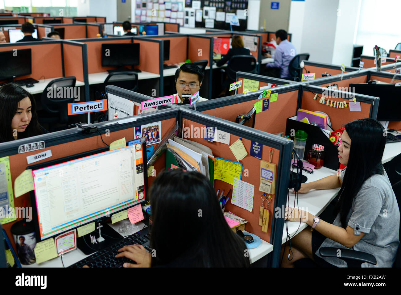 PHILIPPINES, Manila, Rockwell Business Center, Pasig City, KPO Knowledge Process Outsorcing, callcenter von Global Stock Photo