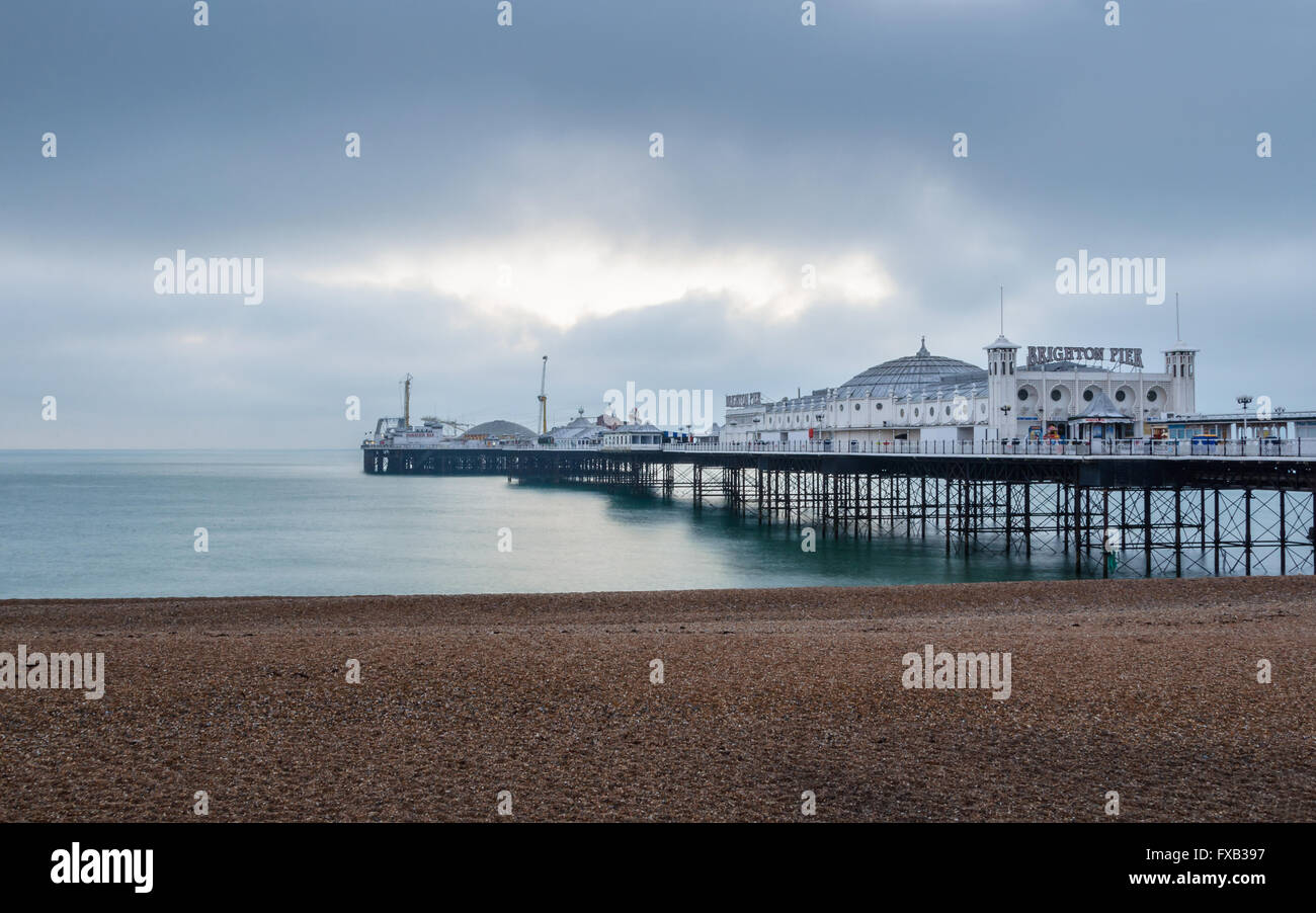 The Brighton Pier in UK - Stock Image