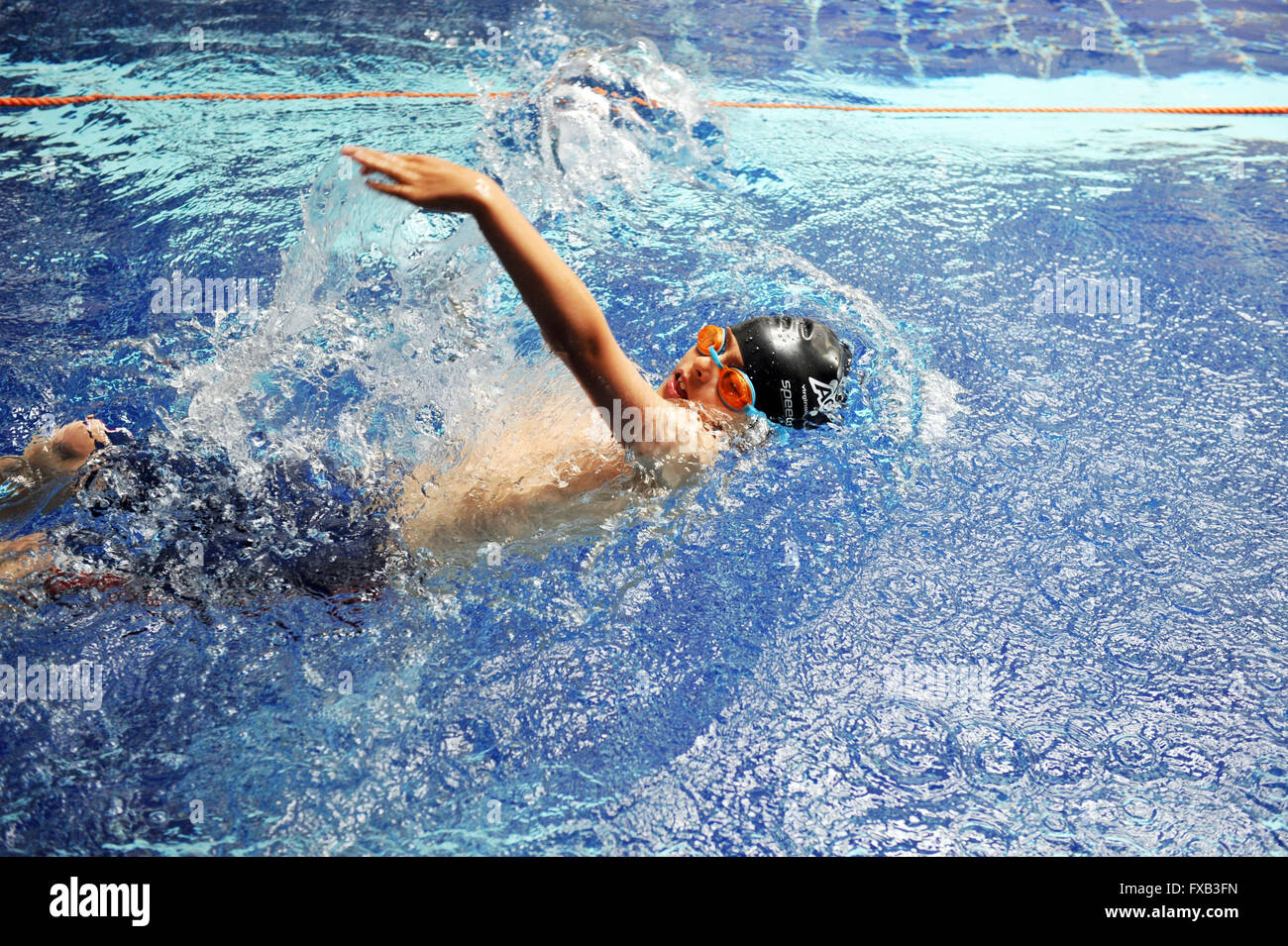School swimming gala Preston - Stock Image