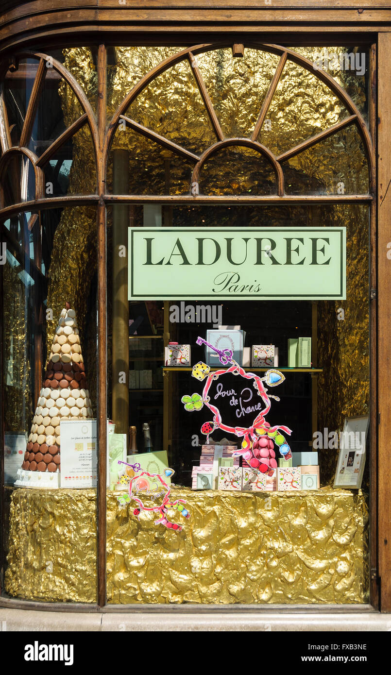 Burlington Arcade Ladurée shop in London, UK - Stock Image