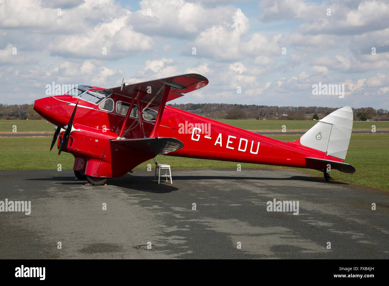 De Havilland DH.90 Dragonfly, G-AEDU. The de Havilland DH.90 Dragonfly was a 1930s British twin-engined luxury touring - Stock Image
