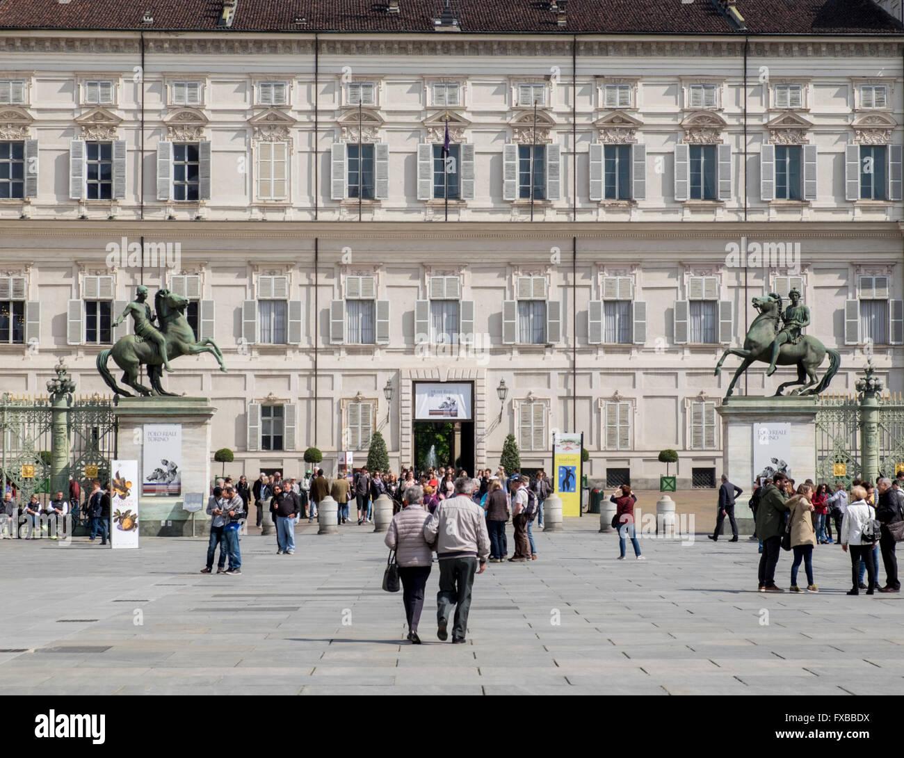 Palazzo Reale (Royal Palace), Turin, Piedmont, Italy - Stock Image