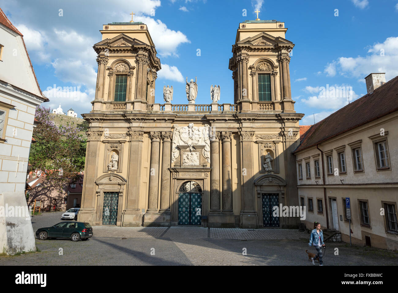 Dietrichstein family tomb, cultural monument, originally built as a copy of the Holy House of Loreto. Mikulov in - Stock Image