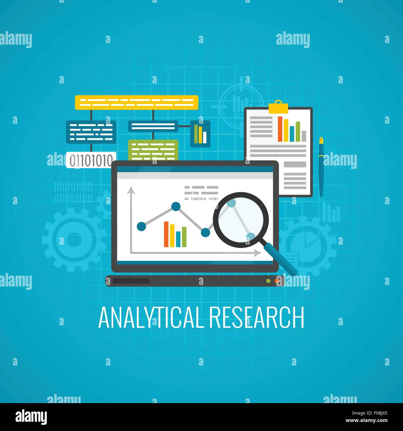 Data and analytical research icon - Stock Image