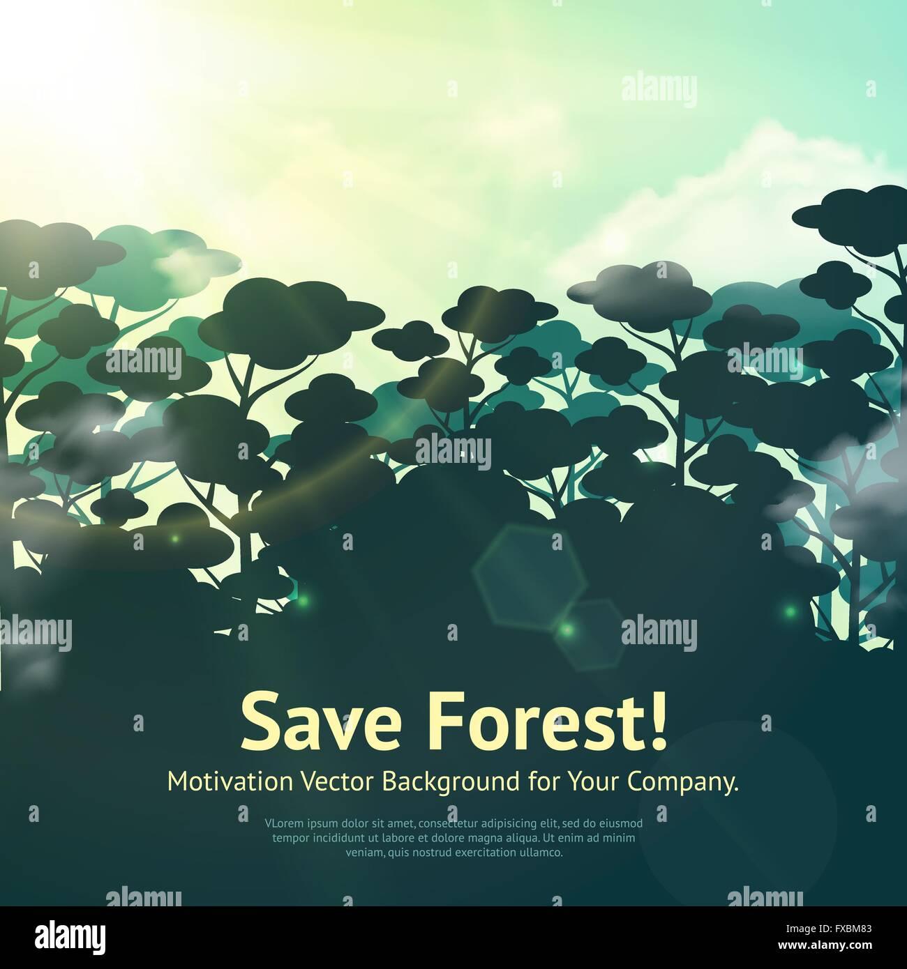 save forest illustration stock vector art illustration vector