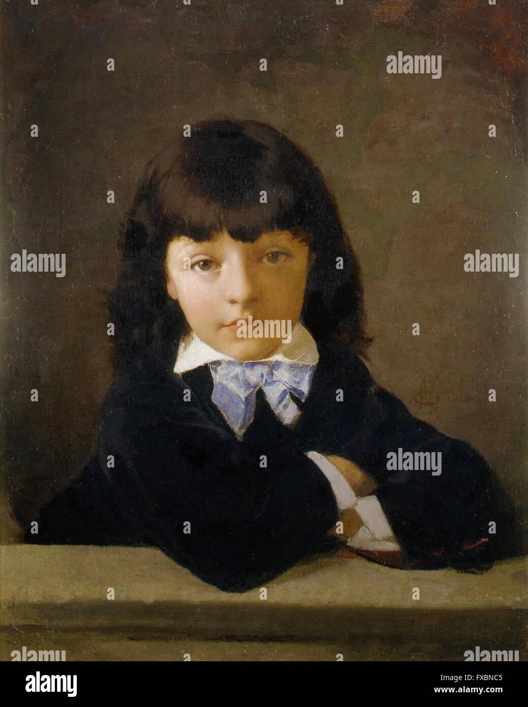 Amos Cassioli - Portrait of Joseph as a child - Fondazione Musei Senes - Stock Image