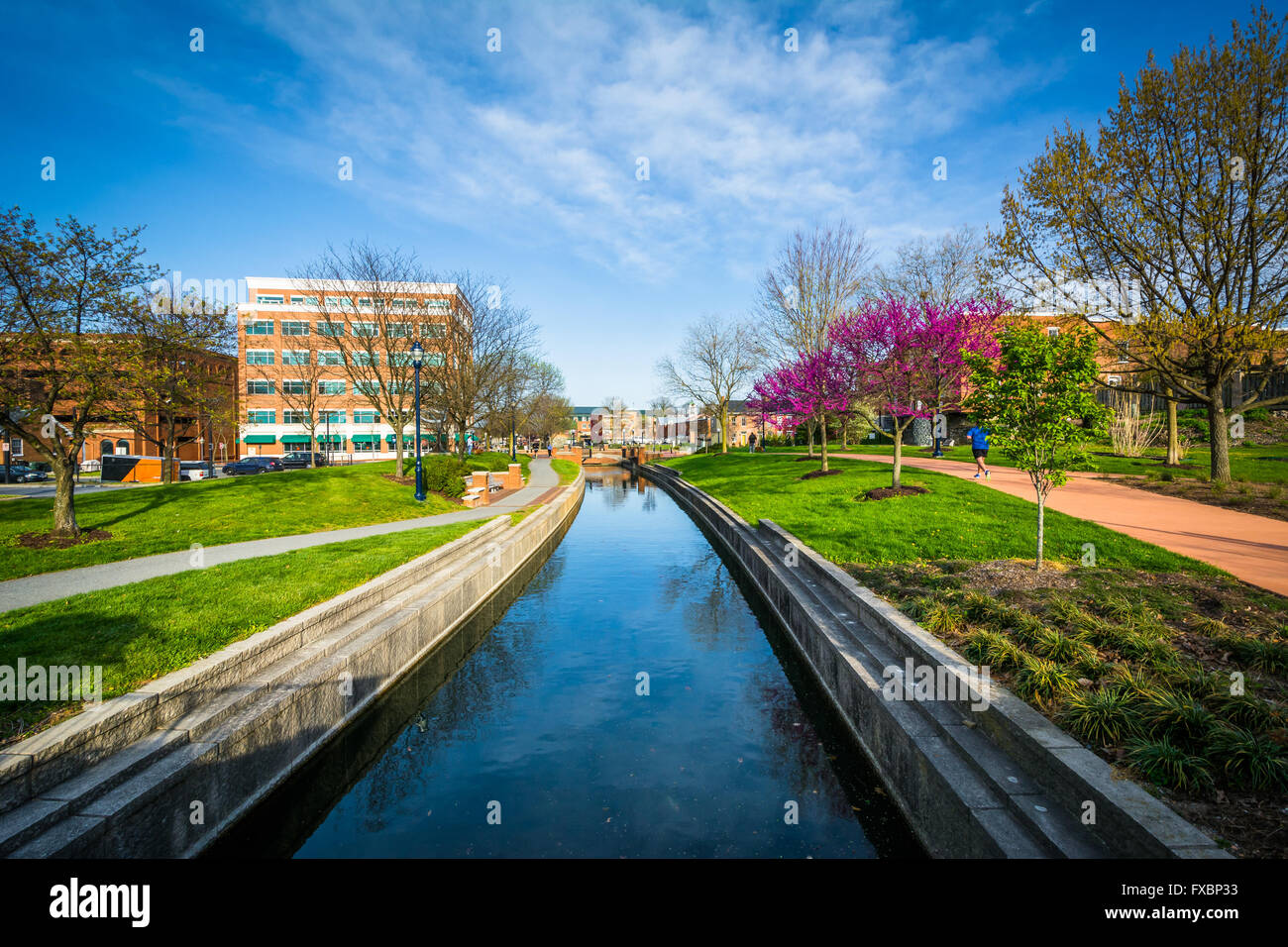 Carroll Creek, in Frederick, Maryland. - Stock Image