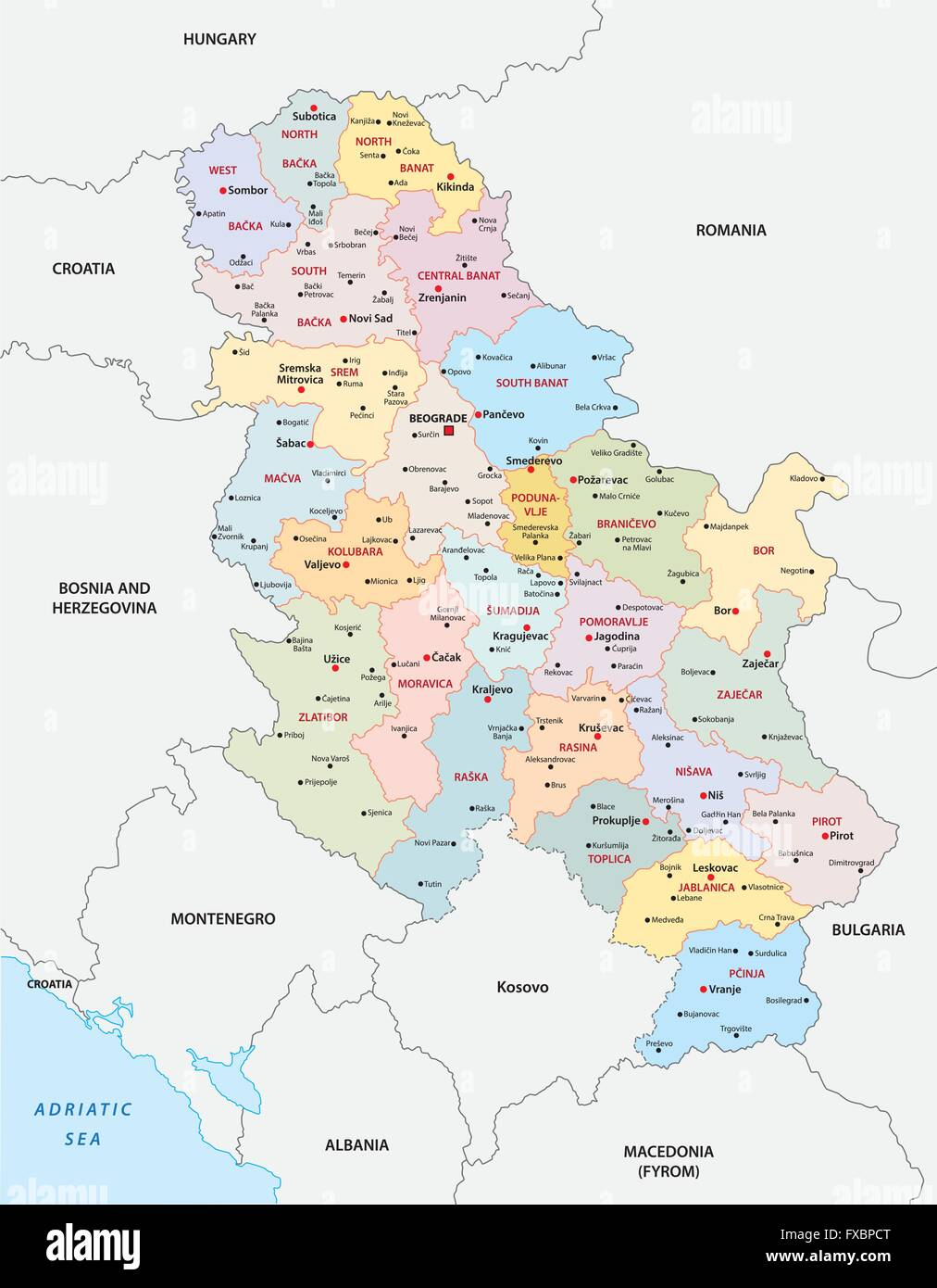 Serbia Map Stock Photos Serbia Map Stock Images Alamy