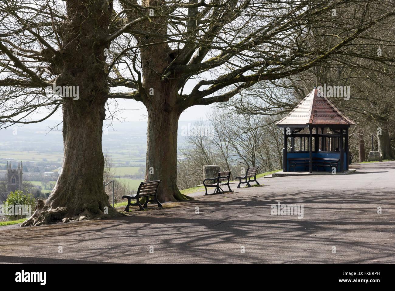 Abbey Walk Shaftesbury Dorset UK - Stock Image