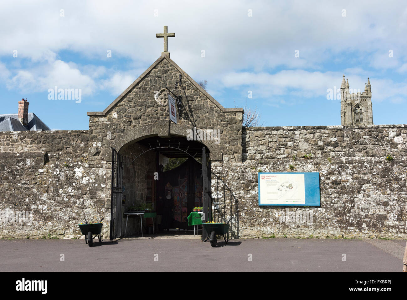 Shaftesbury Abbey Dorset UK - Stock Image