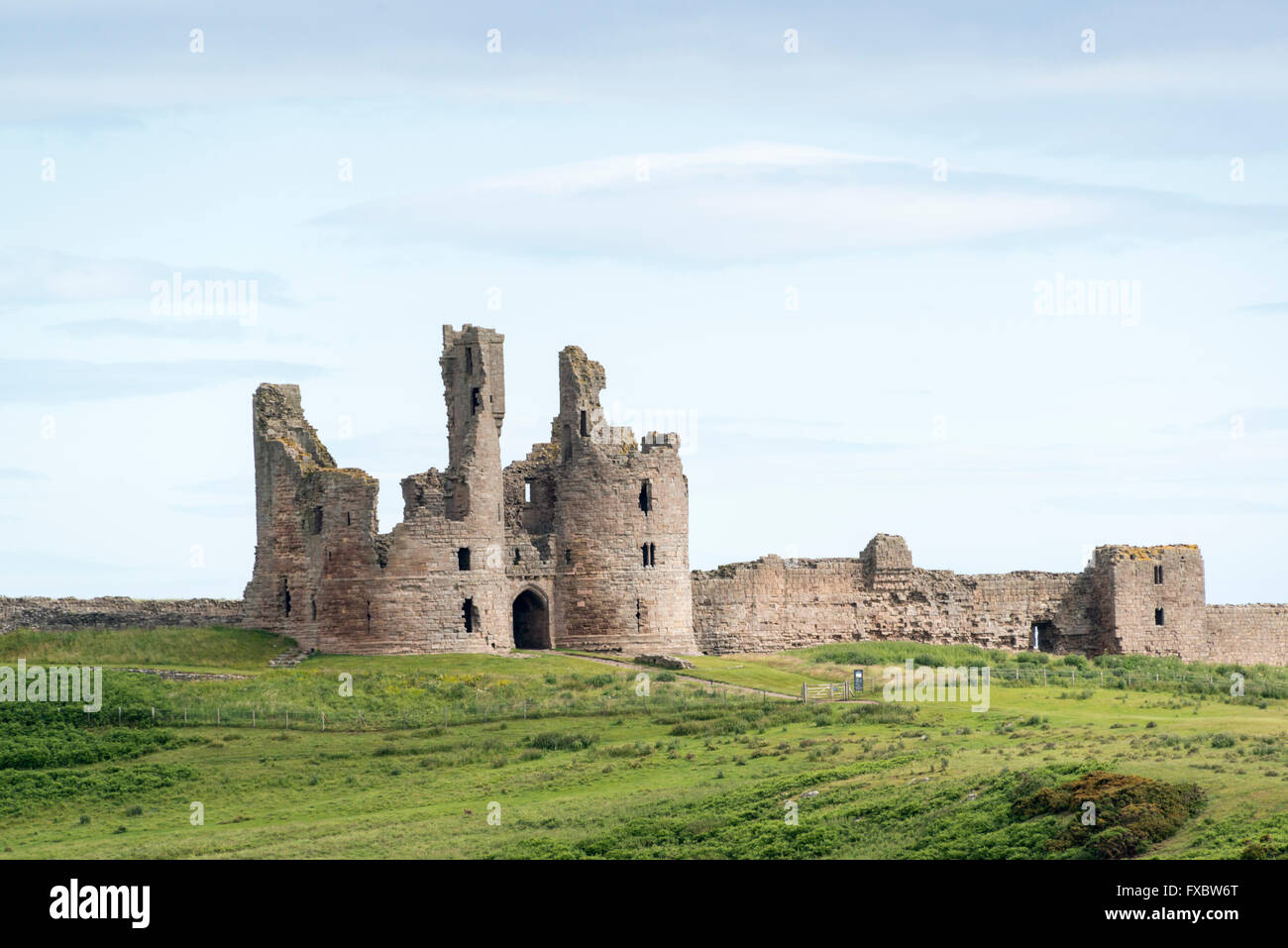 Dunstanburgh Castle, Northumberland - Stock Image