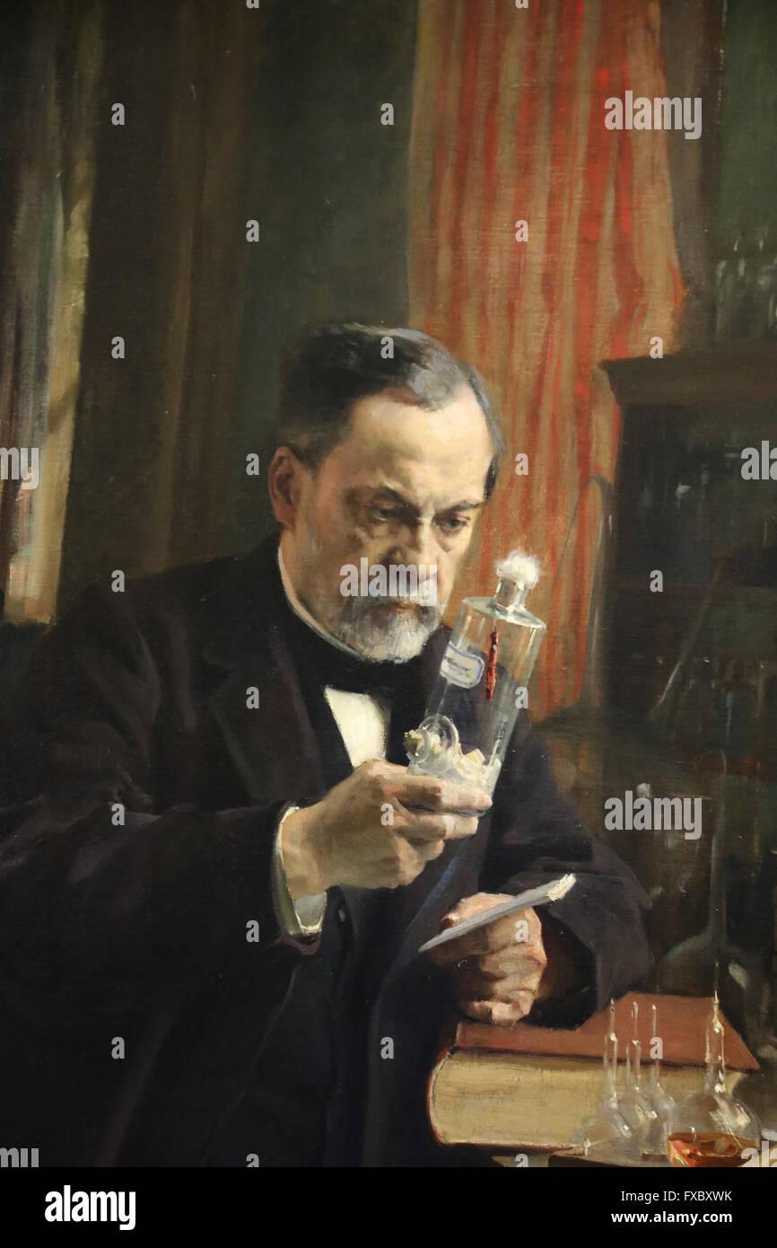 Louis Pasteur. Portrait, 1885 by painter Albert Edelfelt (1854-1905). Oil on canvas. Orsay Museum. Paris. France. Stock Photo
