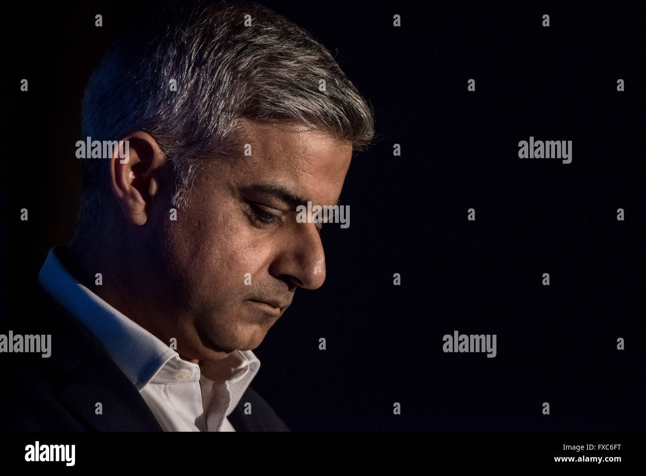 London, UK. 12th April. London Mayoral Election Debate at The Institute of Directors with Sadiq Khan (pictured) - Stock Image