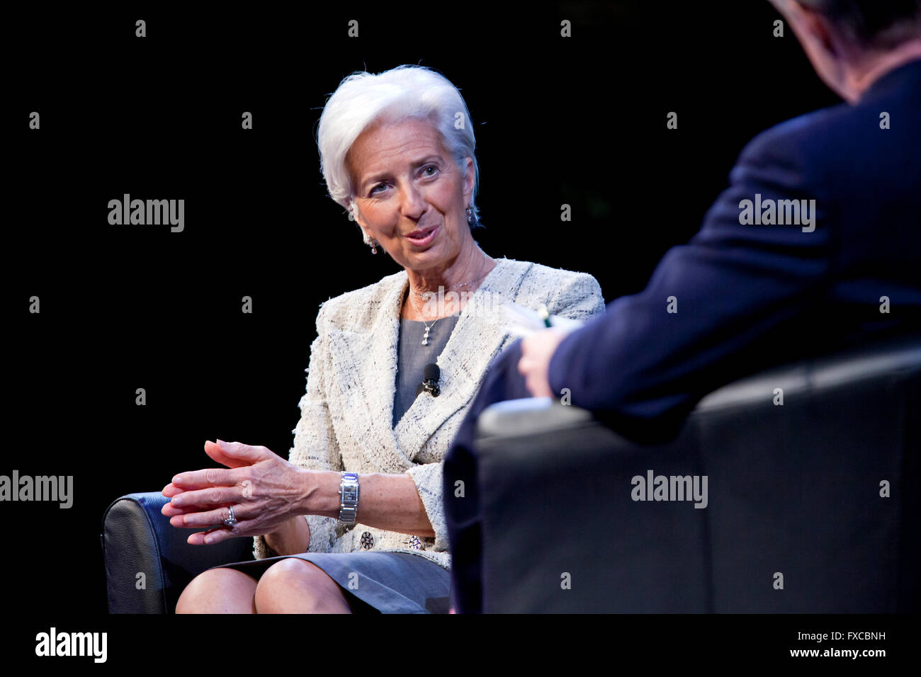 Washington DC, USA. 14th April, 2016. Managing  Christine Lagarde, Director of the International Monetary Fund (IMF), Stock Photo