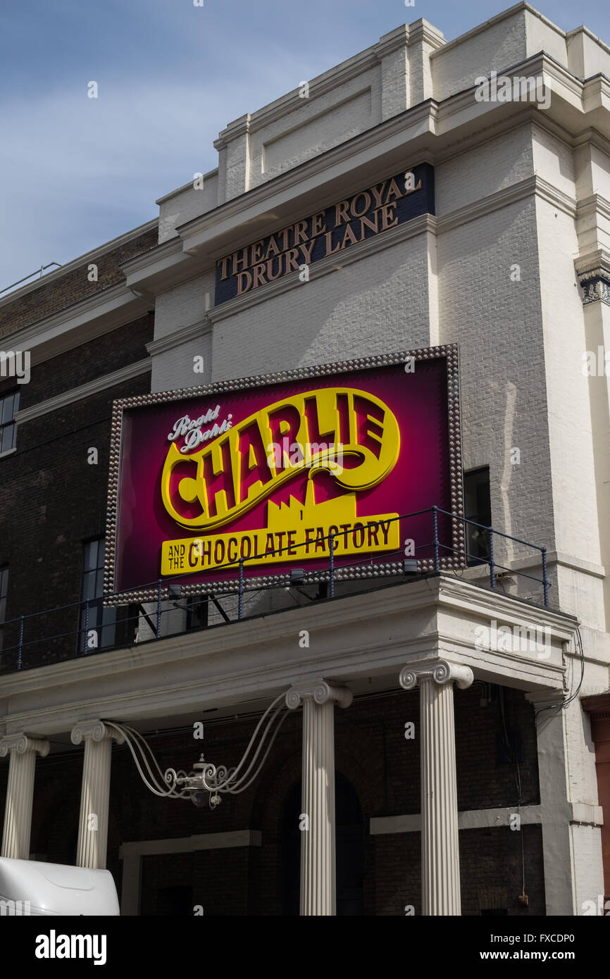 The stage musical Charlie and the Chocolate Factory, Theatre Royal Drury Lane, London, UK - Stock Image
