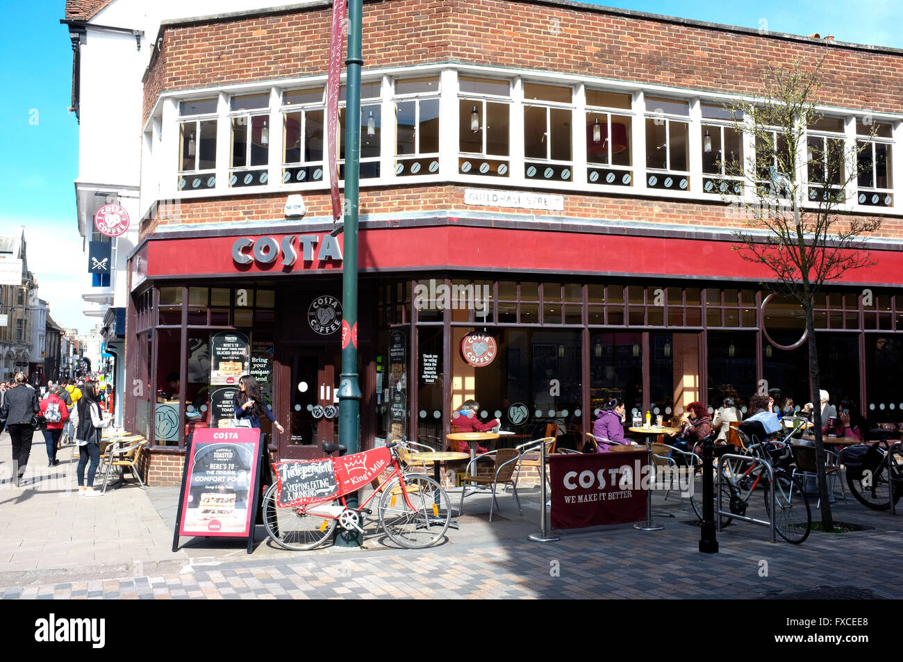 costa coffeehouse branch in the city of canterbury east kent uk april 2016 - Stock Image