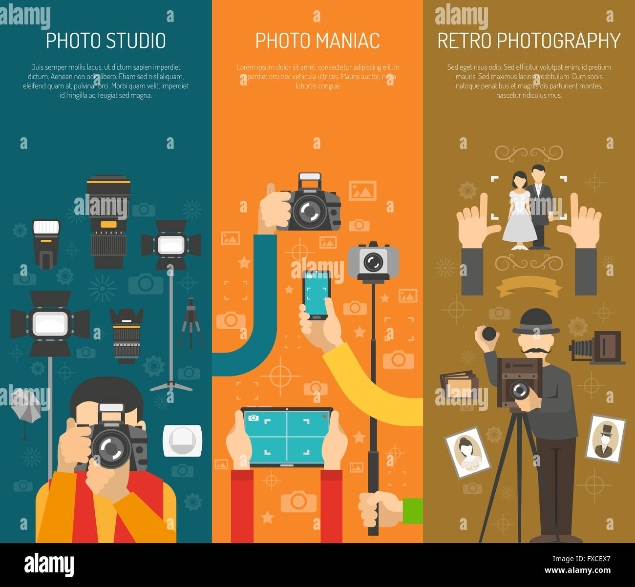 Photography banner set - Stock Vector