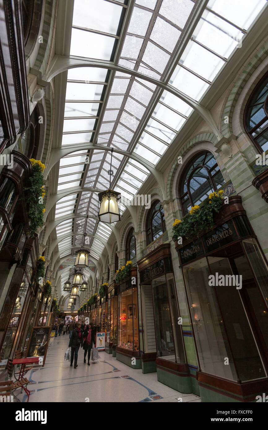 The Royal Arcade, designed by George Skipper, Norwich, Norfolk, England, UK - Stock Image
