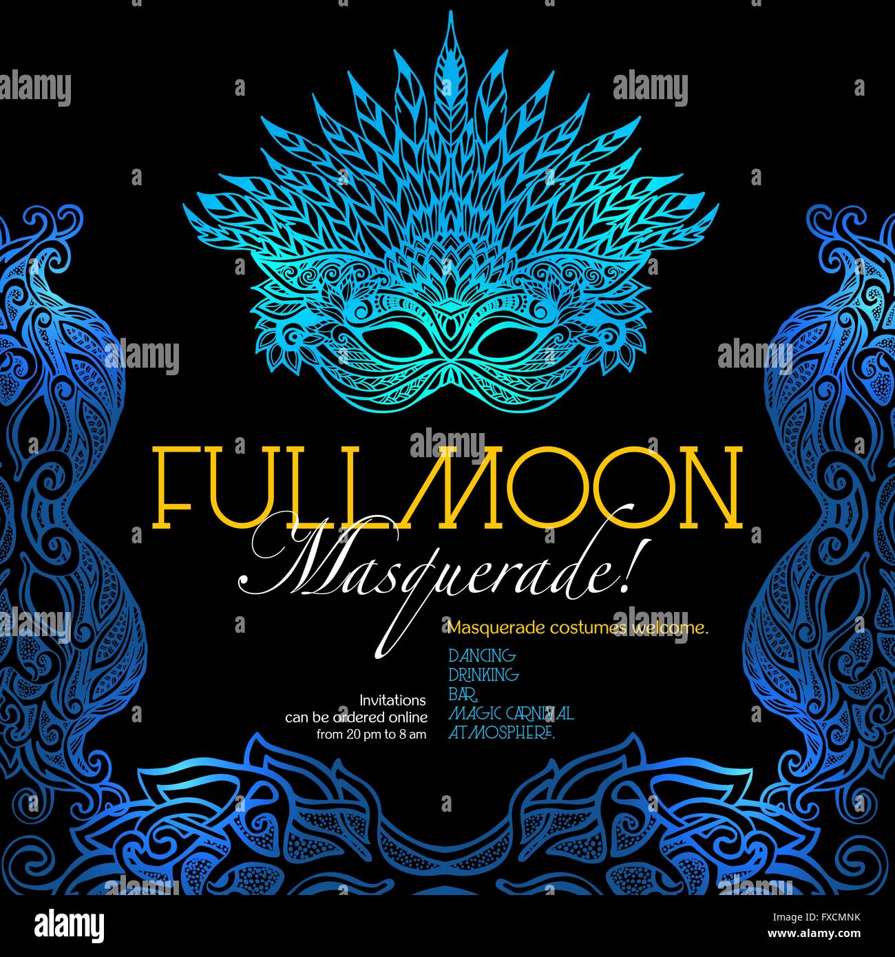 Masquerade Ball Poster Stock Vector Art Illustration Image