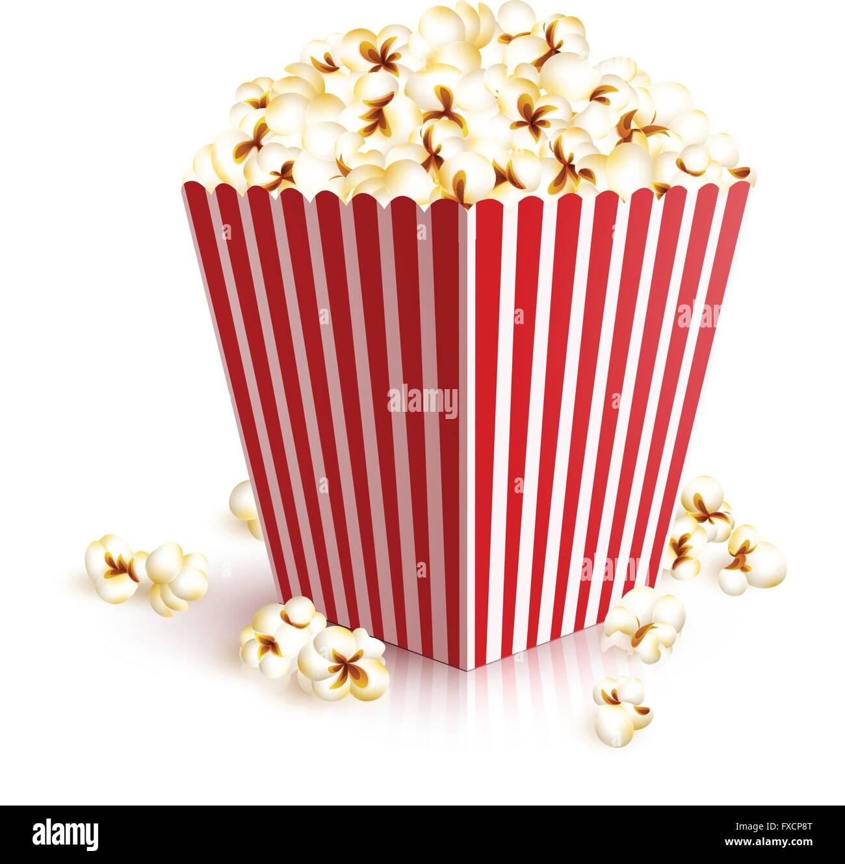 Realistic Popcorn Bucket Stock Vector